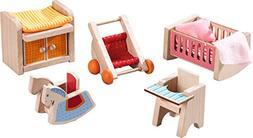 HABA Little Friends Children's Nursery Room - Dollhouse Furn
