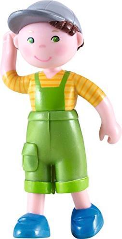 """HABA Little Friends Farm Boy Nils - 4"""" Bendy Doll Figure wit"""