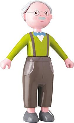 "HABA Little Friends Grandpa Kurt - 4.5"" Bendy Doll Grandfath"
