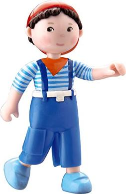 "HABA Little Friends Matze - 4"" Bendy Boy Doll Figure with Bl"