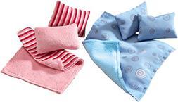 HABA Little Friends Pillows & Blankets - Dollhouse Accessory