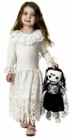 Little Miss Voodoo Doll Ghost Zombie Fancy Dress Up Hallowee