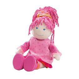 "HABA Little Scamp Lilli 12"" Soft Doll with Pink Hair and Fre"