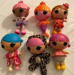 "Lalaloopsy Littles,  Little Sister Dolls 7"",  Lot Of 6"
