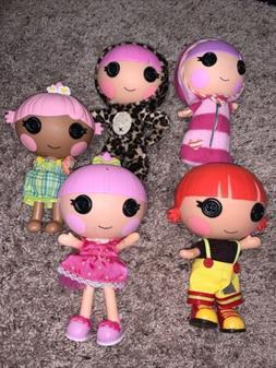 "Lalaloopsy Littles Little Sister Dolls Lot Of 5 Dolls 7"" T"