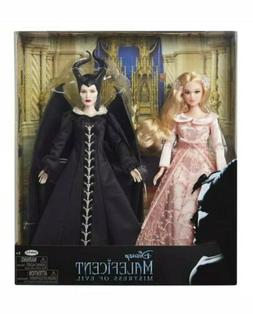 DISNEY LIVE ACTION MALEFICENT AND AURORA DOLL SET NIB MISTRE