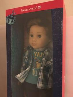 "American Girl Logan 18"" Doll New In Box Retired Boy Drummer"