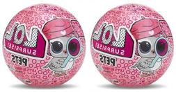 LOL 7 layers of Surprise Pets Series 4 Dolls 2 Pack Ball Tra
