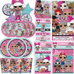 LOL Surprise Birthday Party Girls Tableware Dolls Decoration