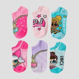 LOL Surprise Doll 6 Pack Girls No Show Socks Size Size M/L 3