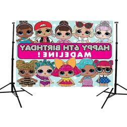 lol surprise doll backdrop birthday party photography