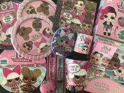 LOL SURPRISE! DOLL Birthday Party Supplies Plates Napkins Do