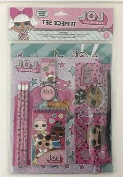 LOL Surprise Dolls 11pc Stationery Set L.O.L. Lol lol New Ra