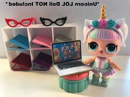 LOL SURPRISE Dolls CUSTOM 3 PC Laptop Glasses ACCESSORIES -