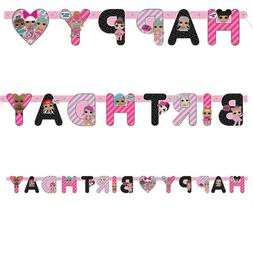 LOL Surprise Dolls Happy Birthday Letter Banner Girls Party
