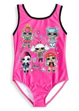 LOL Surprise Sz 7/8 Girls Swimsuit Bathing Suit One Piece UP
