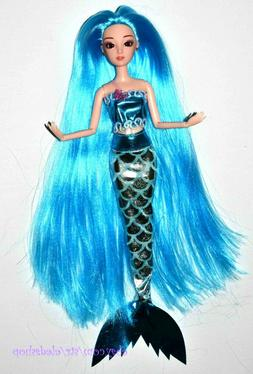 Eledoll Longest Hair Blue Sirenia Mermaid Princess Poseable