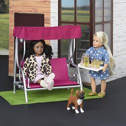 Our Generation Lori Dollhouse - GARDEN PATIO SET - Fashionab