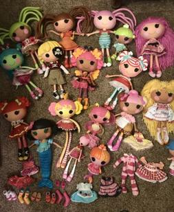 Lalaloopsy Lot 18 Dolls Full Size & little sisters Patch Pir