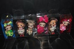"Lot 6pc Mini Dolls 5"" Free Shipping"