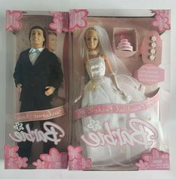 Lot of 2 Dolls Barbie Beautiful Bride & Handsome Groom Ken N