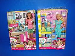 Lot of 2  Mattel Barbie Zoo Doctor Playset & Baby Doctor Pla