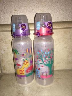 Lot of 2 Parent's Choice Bottles 9oz ~ Slow Flow Nipples R
