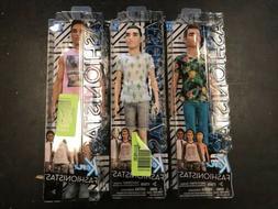 Lot of 3 New Barbie Fashionistas Ken Dolls