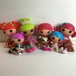 MGA Lot of 6 Lalaloopsy Dolls Full Size and Little Sister Ba