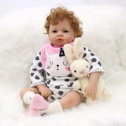 Lovely 21inch Reborn Doll Silicone Newborn Baby Doll with Cl