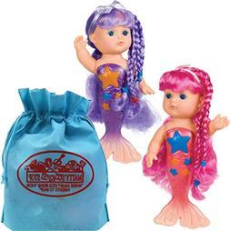 Toysmith Magical Mermaid Bathtime Dolls  Pink & Purple Gift