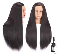 Mannequin Head Human Hair 26 - 28 Synthetic Hairdresser Styl
