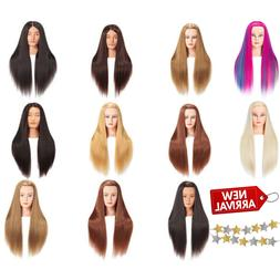 Mannequin Head With Hair Female Cosmetology Manikin Head Sta