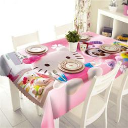 Many Pink Dolls 3D Tablecloth Table cover Cloth Rectangle We