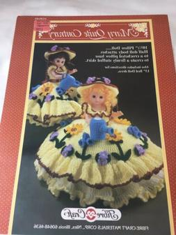 Mary Quite Contrary Doll Costume, Crochet For 10 1/2 & 13 In