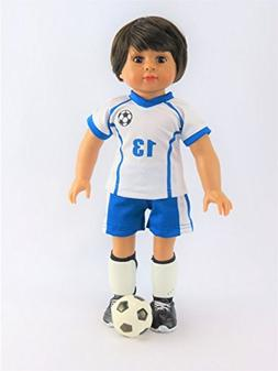 Mason The Super Soccer Player 4-Piece Outfit with Boy Doll |