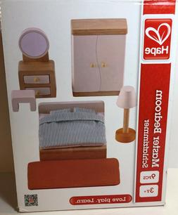 Hape Master Bedroom Kid's Doll  Wood Play Set and Accessorie