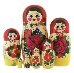Matryoshka Doll 7 PCs - Nesting Dolls Hand Carved Russian М