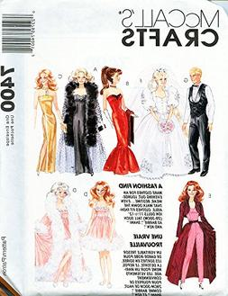 McCall's 7400 Vintage 90s Sewing Pattern Fashion Dolls like