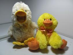 "Melissa & Doug Cute Ideal Spring Duckies 7"" & 11"" Tall Plush"
