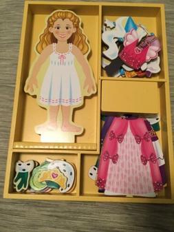 Melissa & Doug Deluxe Princess Elise Magnetic Wooden Dress-U
