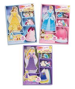 Melissa & Doug Disney Cinderella, Belle, and Rapunzel Magnet