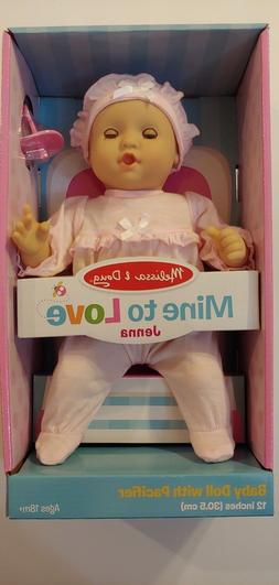 "Melissa and Doug Mine To Love Jenna Baby Doll 12""with Pacifi"
