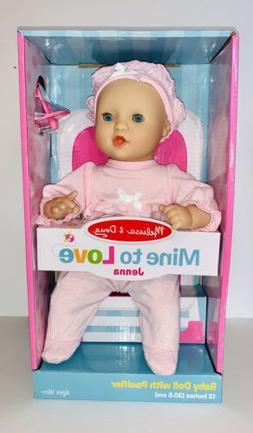 "Melissa and Doug Mine To Love Jenna Baby Doll 12"" w/ Pacifie"