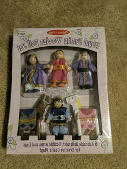 Melissa Doug Royal Family Wooden Doll