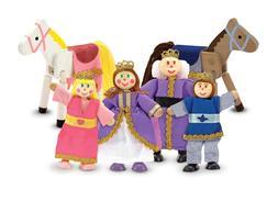Melissa & Doug Royal Family Wooden Doll Set #286 BRAND NEW
