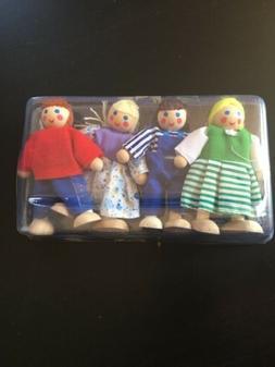 Melissa & Doug Wood Dollhouse Set Of 4 New Dolls