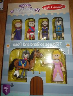 Melissa & Doug Wooden Flexible Figures- Royal Kingdom Dolls