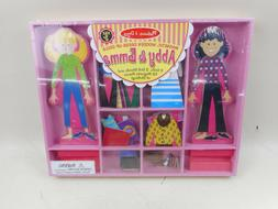 Melissa Doug Abby and Emma Deluxe Magnetic Wooden Dress-Up D