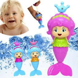 Mermaid Bath Tub Doll Swimming Baby Bath Toys Wind Up Floati
